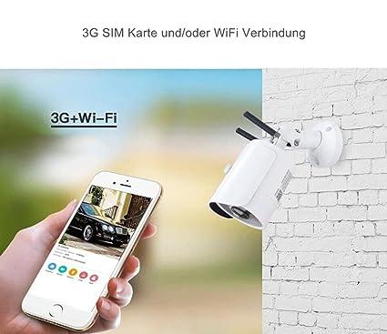 3 G GPRS GSM HD para vivienda W de LAN & 3 G WiFi Cámara IP