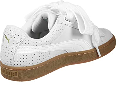 f1cc79f7330 Puma Women s Basket Heart Perf Gum Trainers  Amazon.co.uk  Shoes   Bags