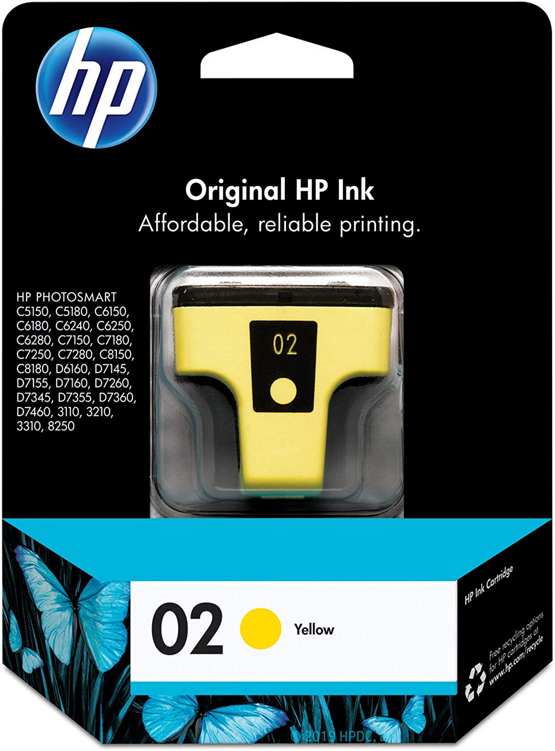 HP 02 | Ink Cartridge | Yellow | C8773WN
