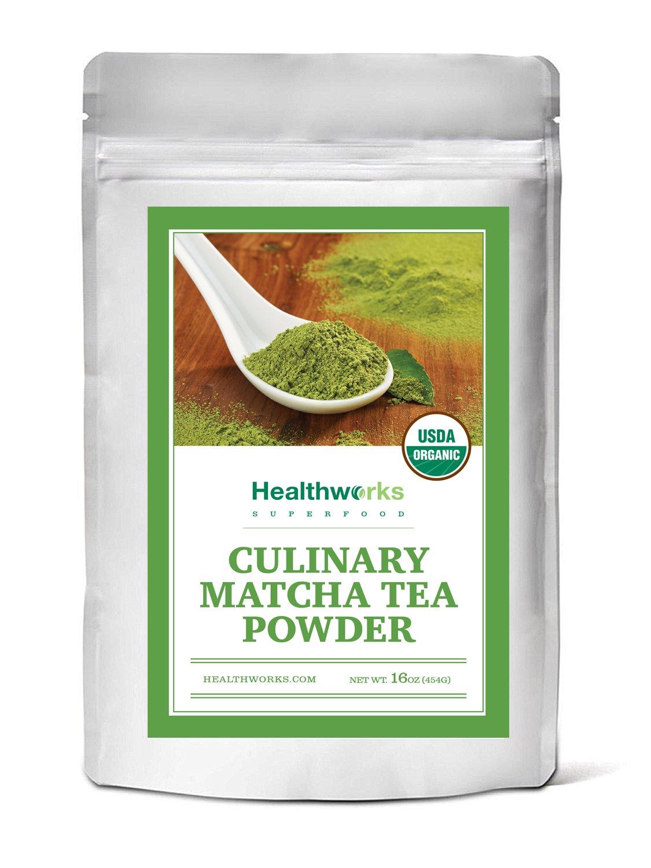 Healthworks Matcha Green Tea Powder Organic, Culinary Grade, 1lb by Healthworks (Image #1)