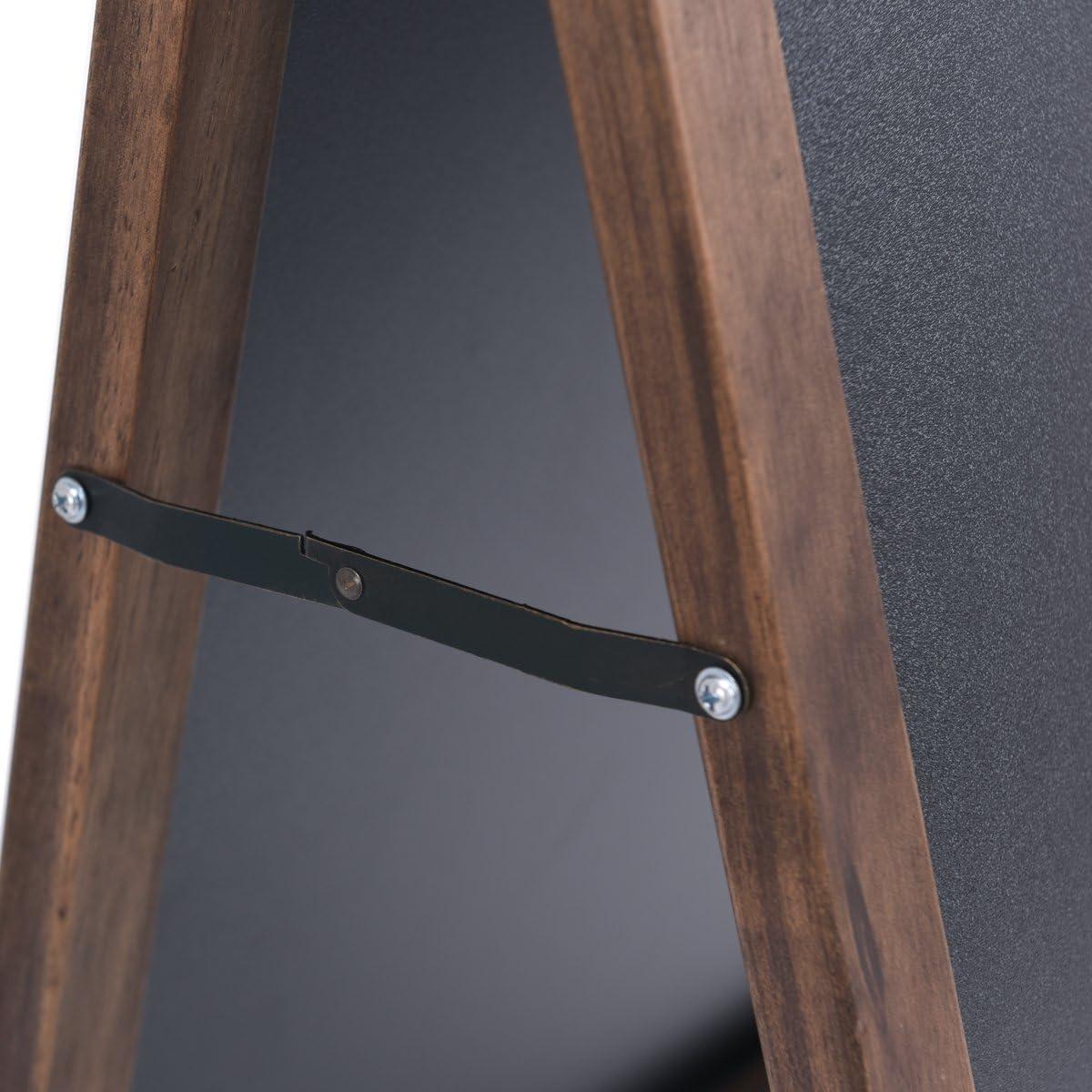 Kundenstopper aus Holz Werbetafel Kindertafel Standtafel Werbeaufsteller Schreibtafel Maltafel Modell 1 GOPLUS Kreidetafel Klappbar