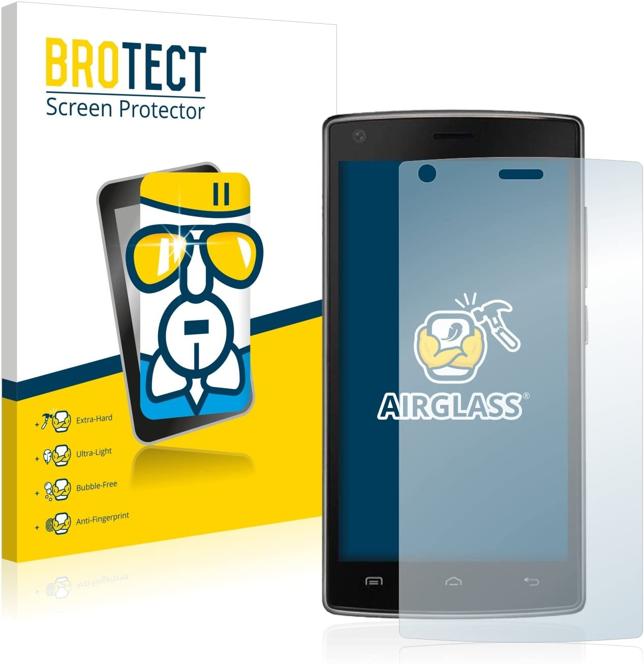 BROTECT Protector Pantalla Cristal Compatible con Doogee X5 MAX ...