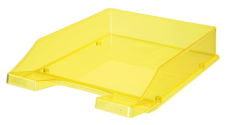 Han - Vassoio portacorrispondenza formato C4, linea Signal, impilabile, colore: giallo fosforescente traslucido 10260-75 hz301026075