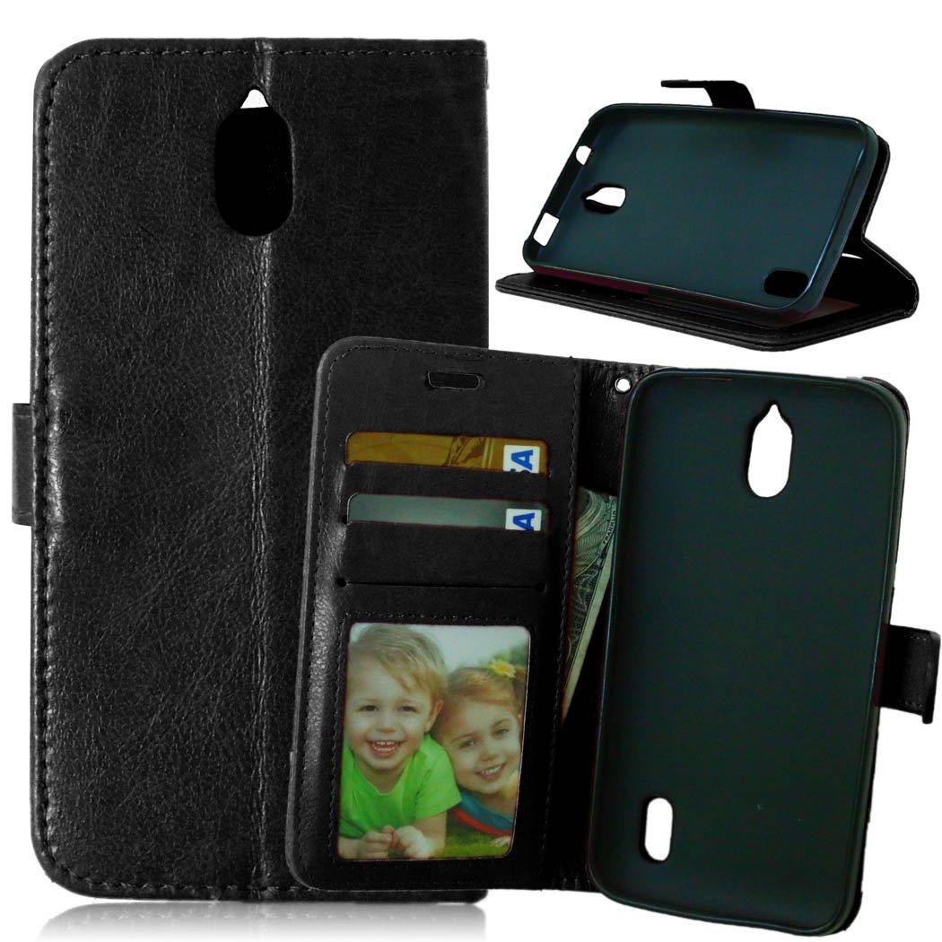 Dooki, Huawei Y625 Coque, PU Cuir Portefeuille Supporter Flip Couverture Housse Coque Etui pour Huawei Y625 avec Crédit Carte Tenant Fente (G-1)