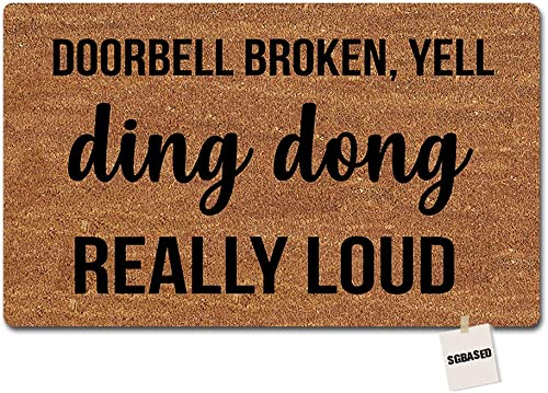 Calloway Mills 102982436 German Shepherd Doormat, 24 x 36 , Natural Black