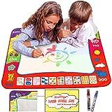 "Aqua Doodle Mat 4 Color Children Water Magic Drawing Book Mat Board & Magic Pen Doodle Kids Educational Toy Gift with 2 Drawing Pens 31.5"" x 23.6"""
