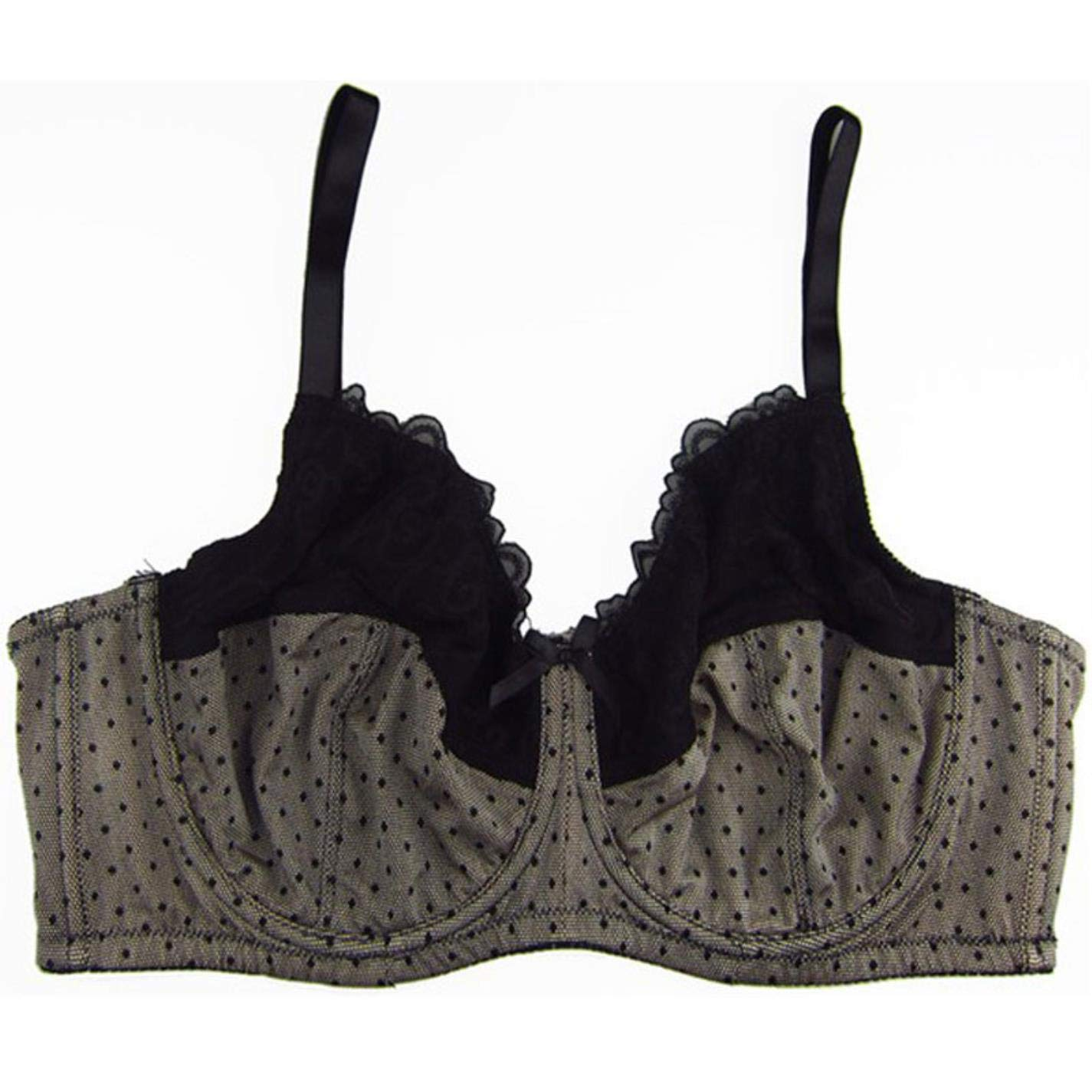QtoOrEuN Women Unlined Printed Bra Plus Size Embroidery Full Cup Bra