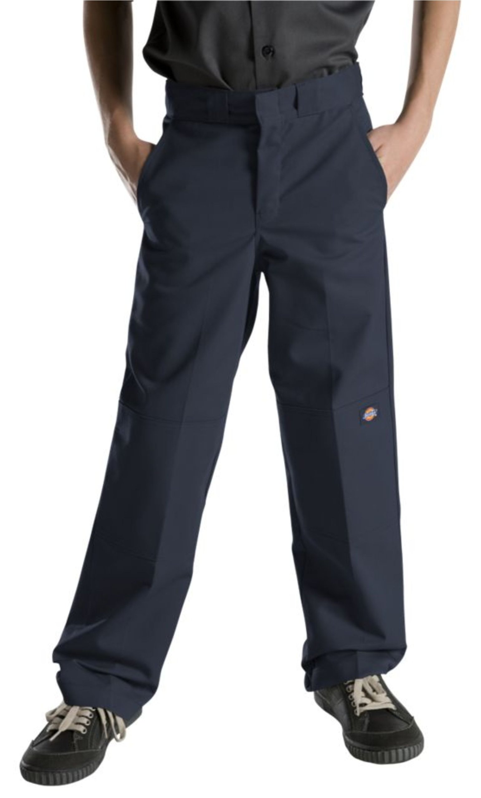 Dickies Big Boys' Flex Waist Double Knee Pant, Dark Navy, 16 by dickies