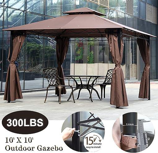 XXFBag 10 X 10 Gazebo Canopy Tent Outdoor Gazebo