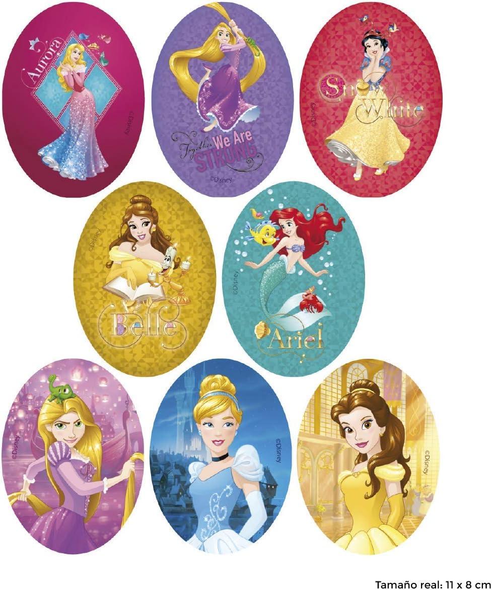 REF.6795-U8 8 parches princesas dinsey serigrafiados para planchar