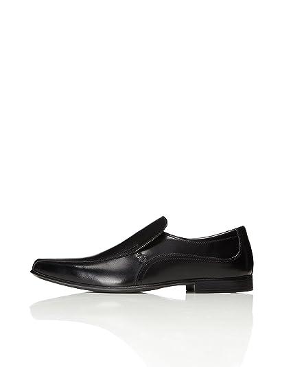 Find Zapato Piel Brogue con Calados para Hombre, Negro (Black), 41 EU