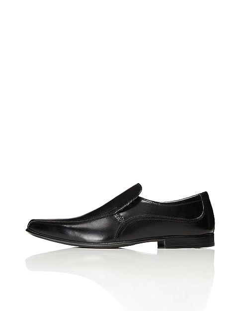 Find Zapatillas de Cuero para Hombre, Negro (Black), 46 EU