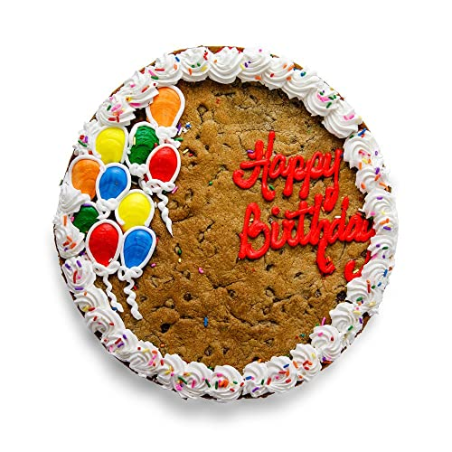 The Great Cookie 13 Inch Happy Birthday Balloon Giant Cake Chocolate