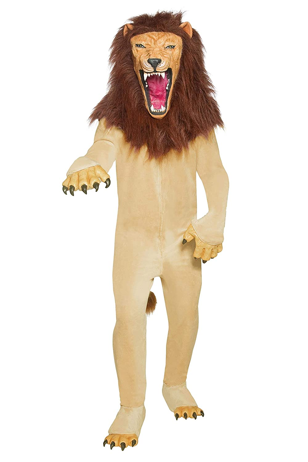 Brown M Cirque Sinister Vicious Circus Lion Costume  Mens