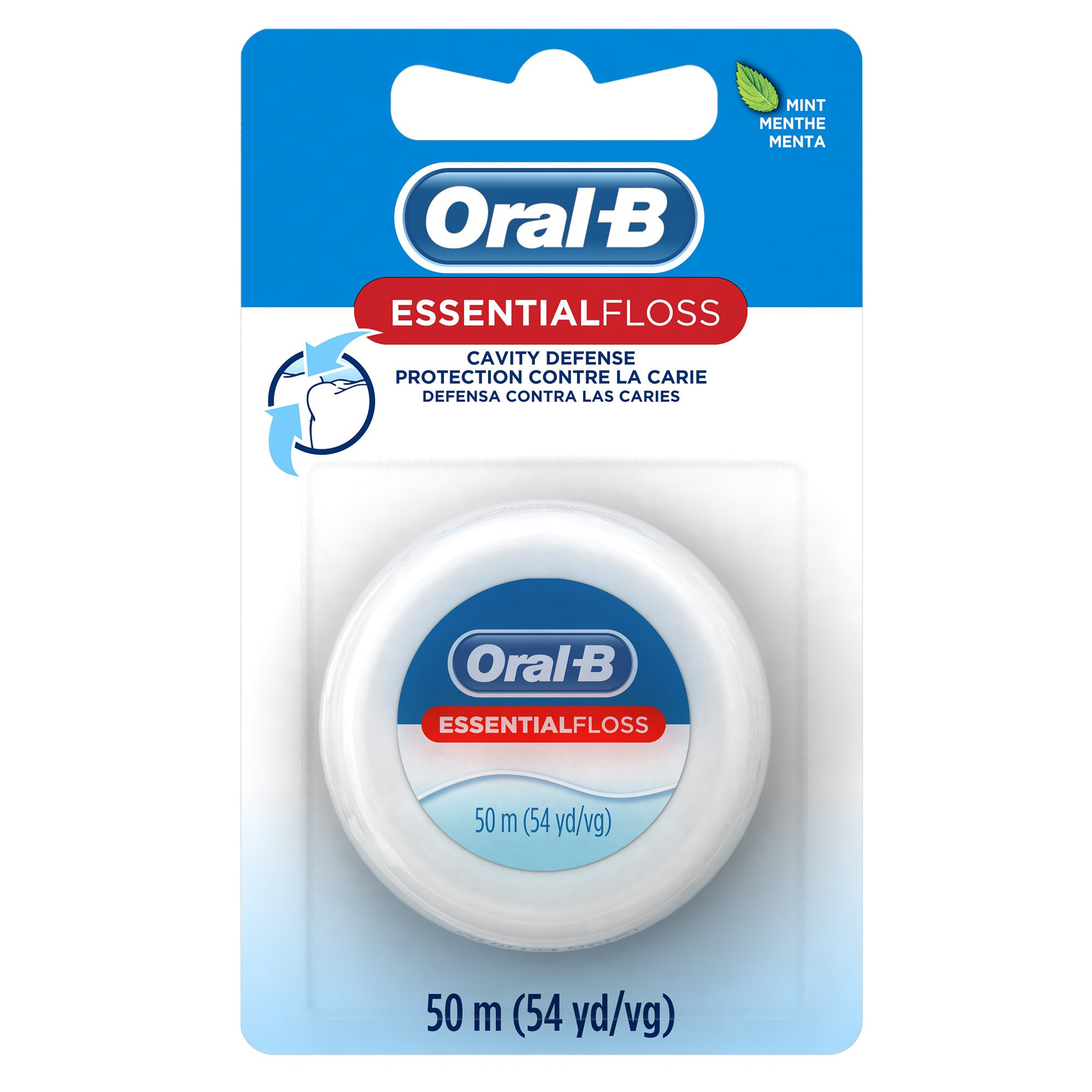 Oral-B Essential Floss Mint Waxed, 54 Yd (Pack of 24) by Oral-B
