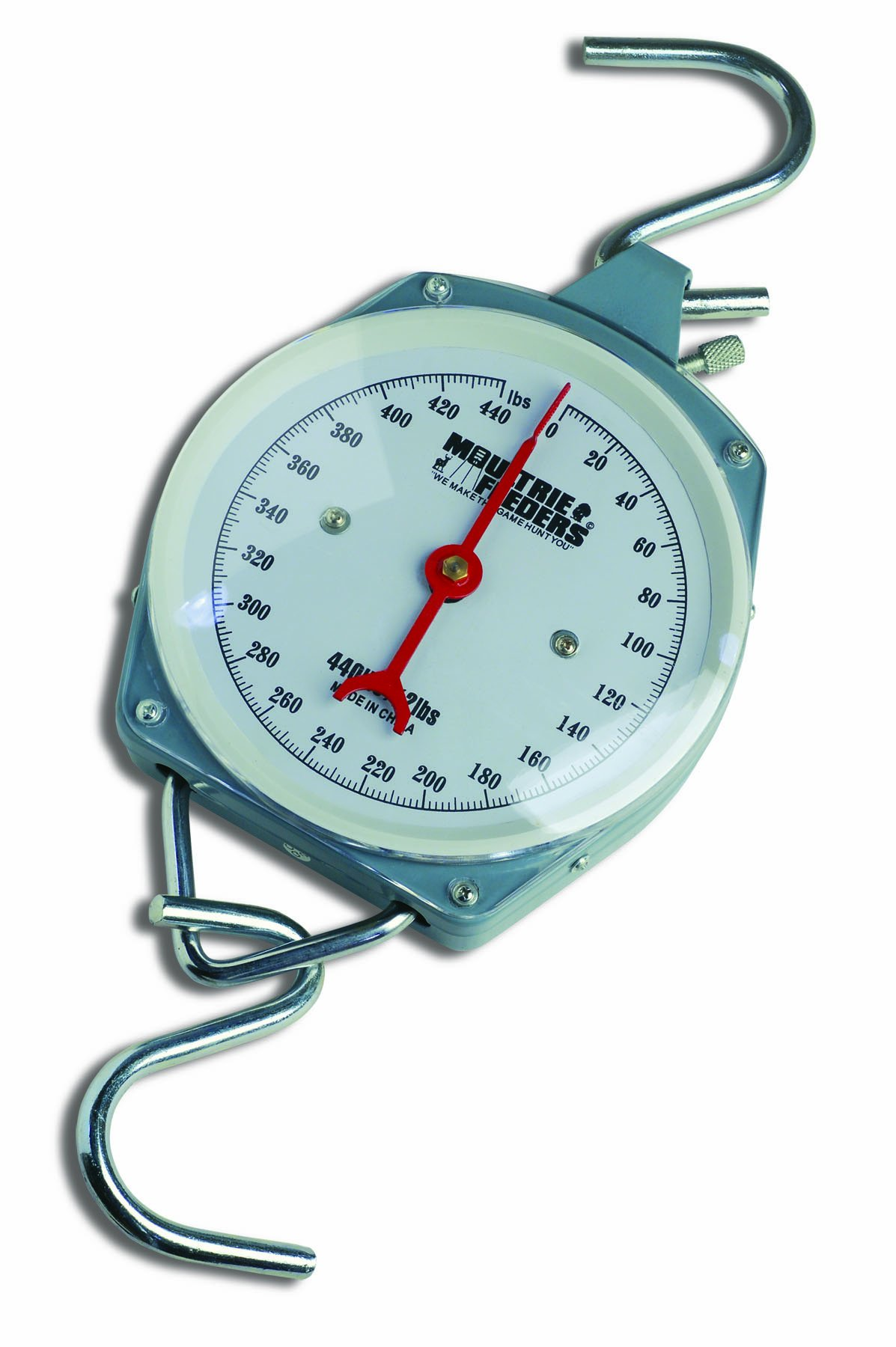 Moultrie 440 lb. Game Scale   400 lb. Capacity   All Steel   2 S-Hooks   Easy to Read Dial by Moultrie