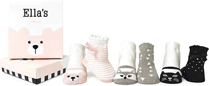 TRUMPETTE BELLA/'s Girl Flip Flop Baby Socks 0-12M NIB Multi Color New 6 Pairs