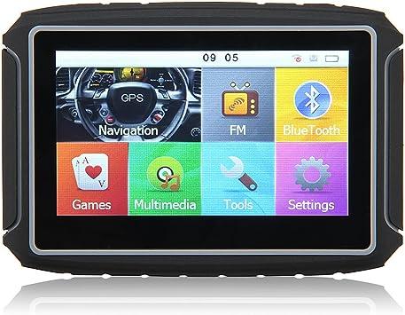 Excelvan GS-4301 Navegador GPS Bluetooth para Motos Coches Vehículos (Pantalla Tft 4.3