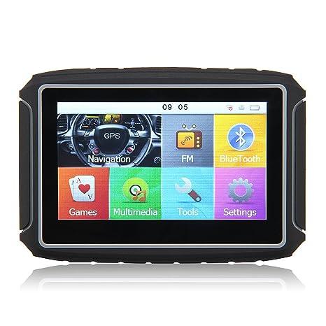 """Excelvan GS-4301 Navegador GPS Bluetooth para Motos Coches Vehículos (Pantalla Tft 4.3"""""""