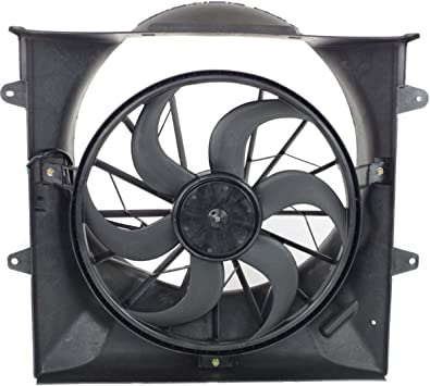 Cooling Direct Fit//For 52079528AB 02-07 Jeep Liberty 3.7L With Heavy-Duty Electric /& 2 pin connector Dual Radiator and Condenser Fan Assembly