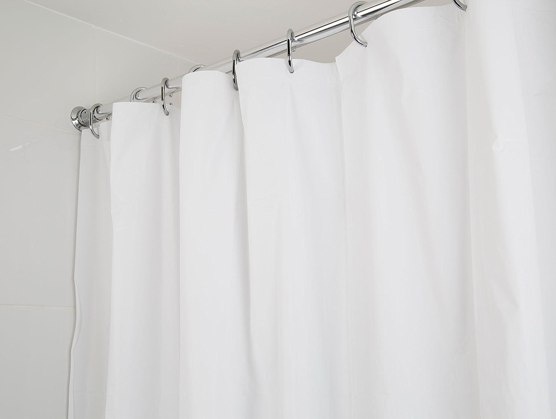 Chiaro colore Croydex Tenda da doccia in PVC ghiaccio