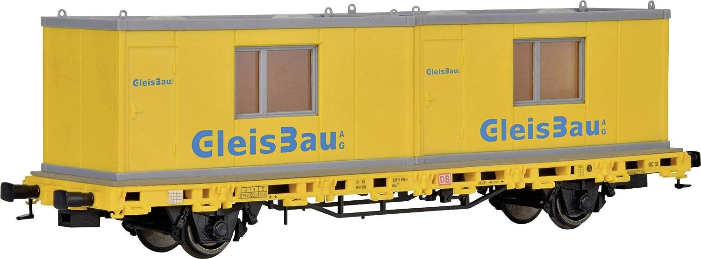 Kibri 26268 - H0 Niederbordwagen mit 2 Containern, Fertigmodell, gleisbau