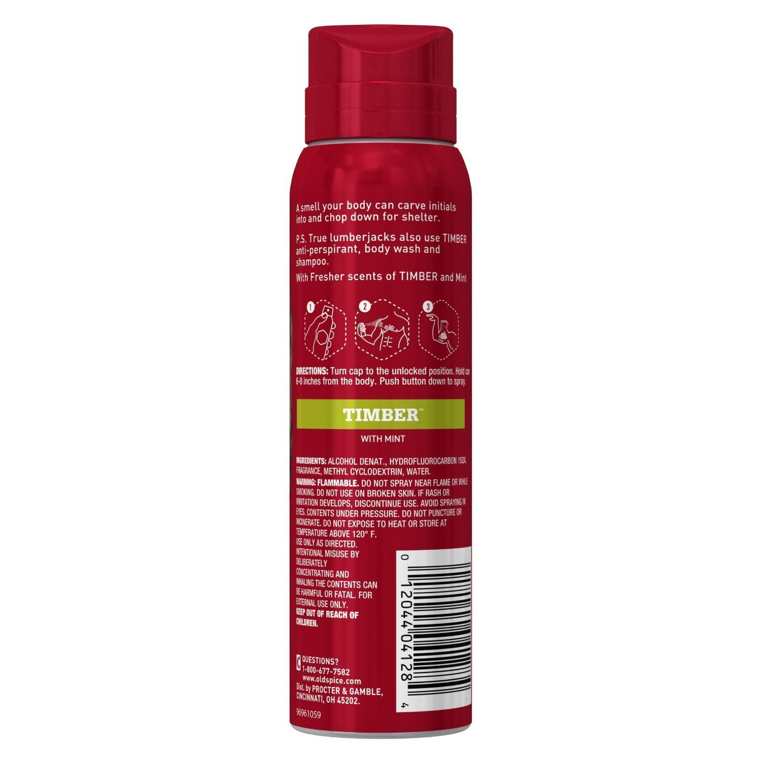 Old Spice Re Fresh Body Spray – Fresher Collection – Timber – Net Wt. 3.75 OZ 106 g Each – Pack of 4