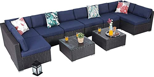 PHI VILLA Outdoor Rattan Sectional Sofa