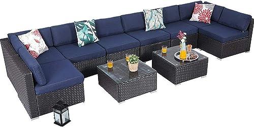 PHI VILLA Outdoor Rattan Sectional Sofa