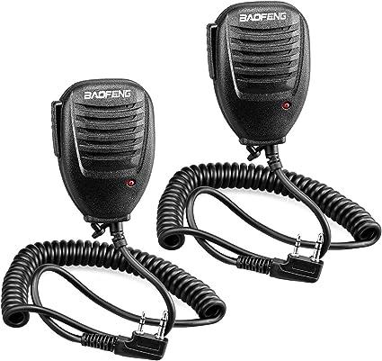 Yosiyo Reemplazo de walkie Talkie de micr/ófono Radio de Dos v/ías Altavoz para el Baofeng UV-9R BF-A58 BF-9700