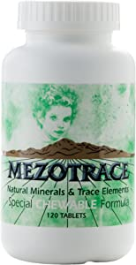 Mezotrace 1300 Natural Minerals & Trace Elements Special Chewable Formula 120 Tablets