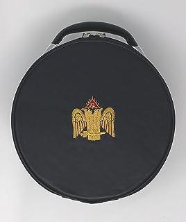 f9e0b86473e Freemason Masonic Regalia Black Cap Case for double eagle 32nd degree  Scottish Cap
