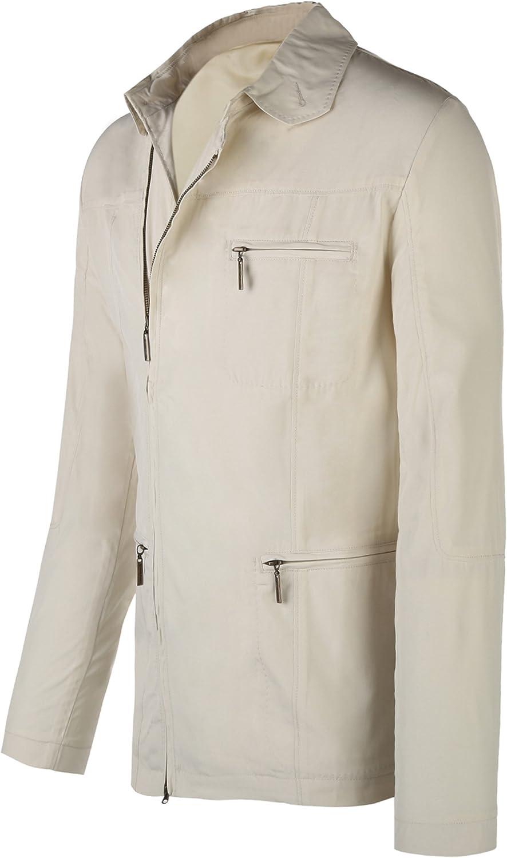 ZITY Mens Casual Cotton Military Jacket Outdoor Coat Windbreaker Long Sleeve Full Zip Jacket