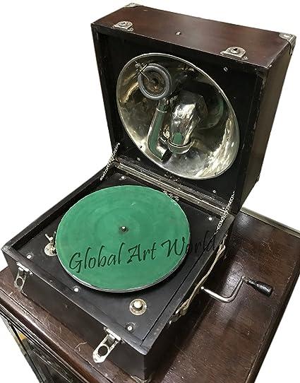 Amazon.com: Global Art World Antique Turntable Home Decor ...