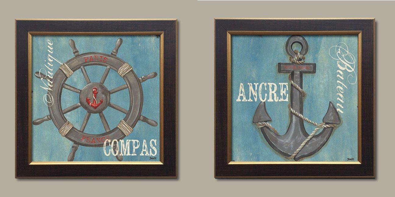 Amazon.com: WallsThatSpeak French Nautical Paris Anchor Ocean Sea ...