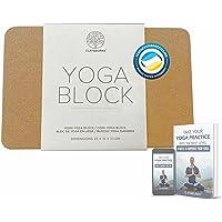 Clay & Burns Natuurlijk kurk yogablok   Yogasteen   100% gemaakt van natuurlijk kurk Yoga, Pilates en trainingsblok…