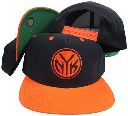 Amazon.com  adidas New York Knicks Black Orange NYK Adjustable ... bbf989c2ba5