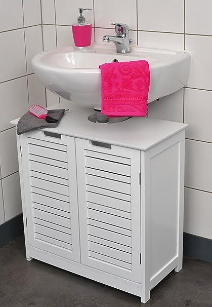 Mueble para debajo del lavabo - 2 puertas y 1 estantería - Diseño ...
