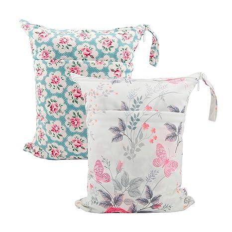 Amazon.com: ALVABY 2 bolsas de pañales de tela húmeda/seca ...