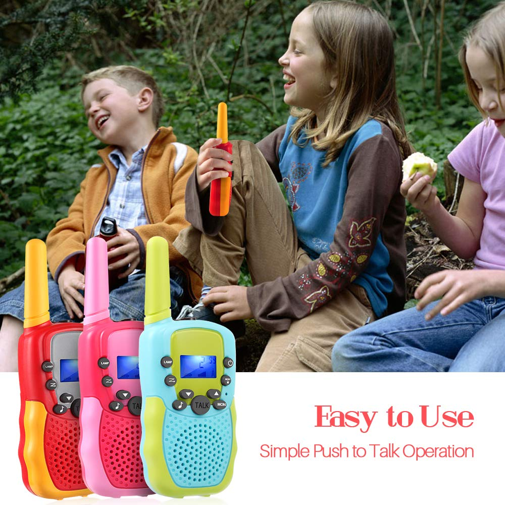 OMWay 3 Pack Kids Walkie Talkies, Toys for Girls 3-12 Year Old,Best Birthday Gifts for Kids. by OMWay (Image #6)