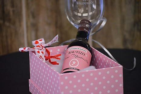 Botella personalizada vino para regalo bautizo chica paloma (pack de 12 botellas): Amazon.es: Alimentación y bebidas
