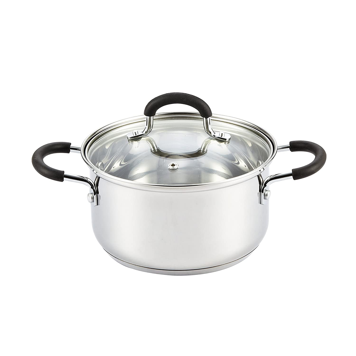 Cook N Home 02417 3 Quart Sauce Pot Casserole Pan