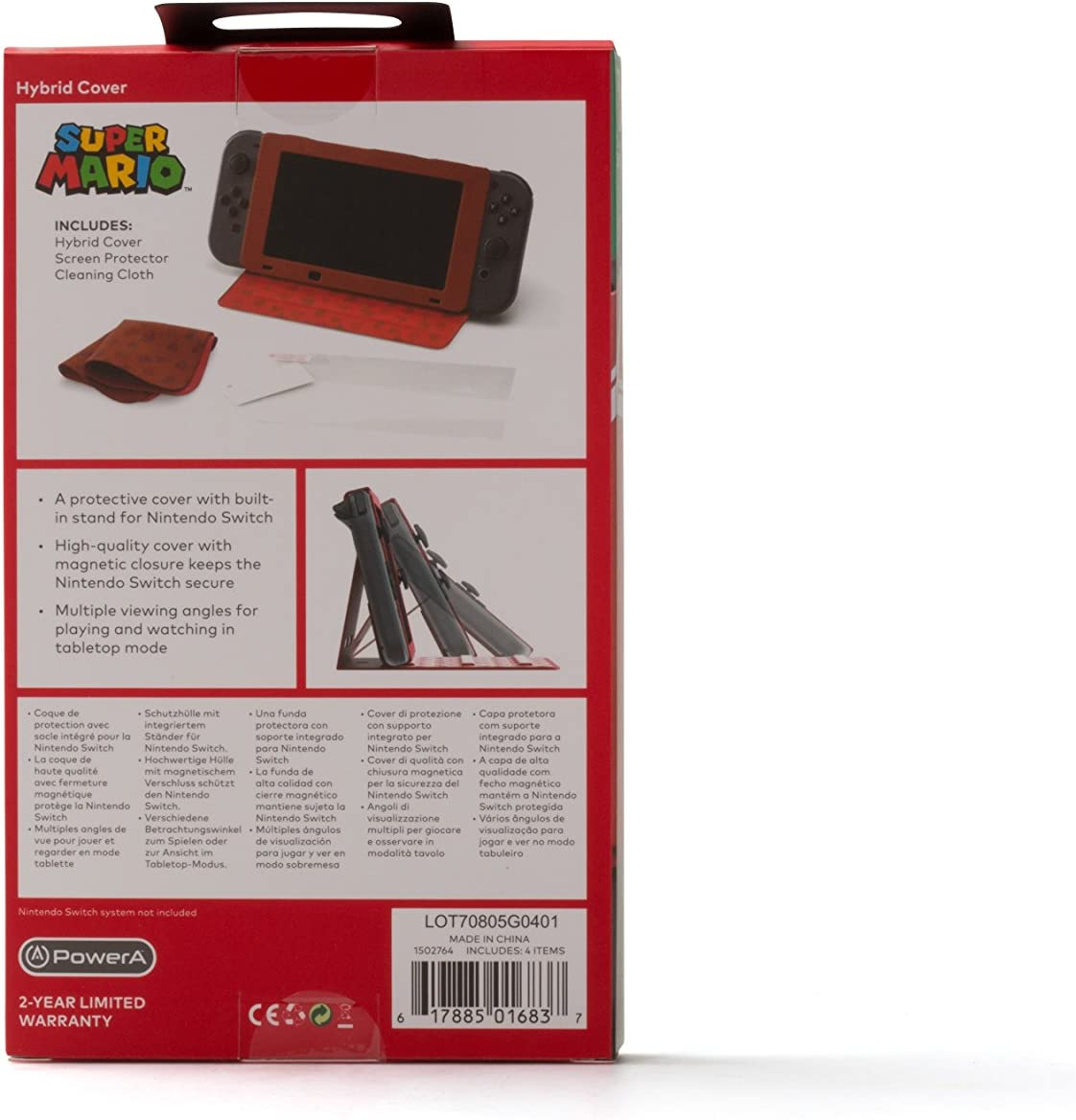 PowerA - Funda protectora con soporte incorporado Mario (Nintendo ...