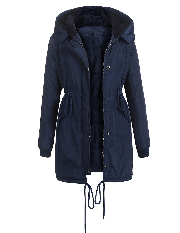 832fd9a35 Amazon.com  Beyove Women Winter Coats Military Hooded Warm Faux Fur ...