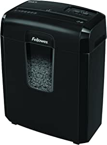Fellowes Powershred 8MC/8MC5 8-Sheet Micro-Cut Paper Shredder, Black