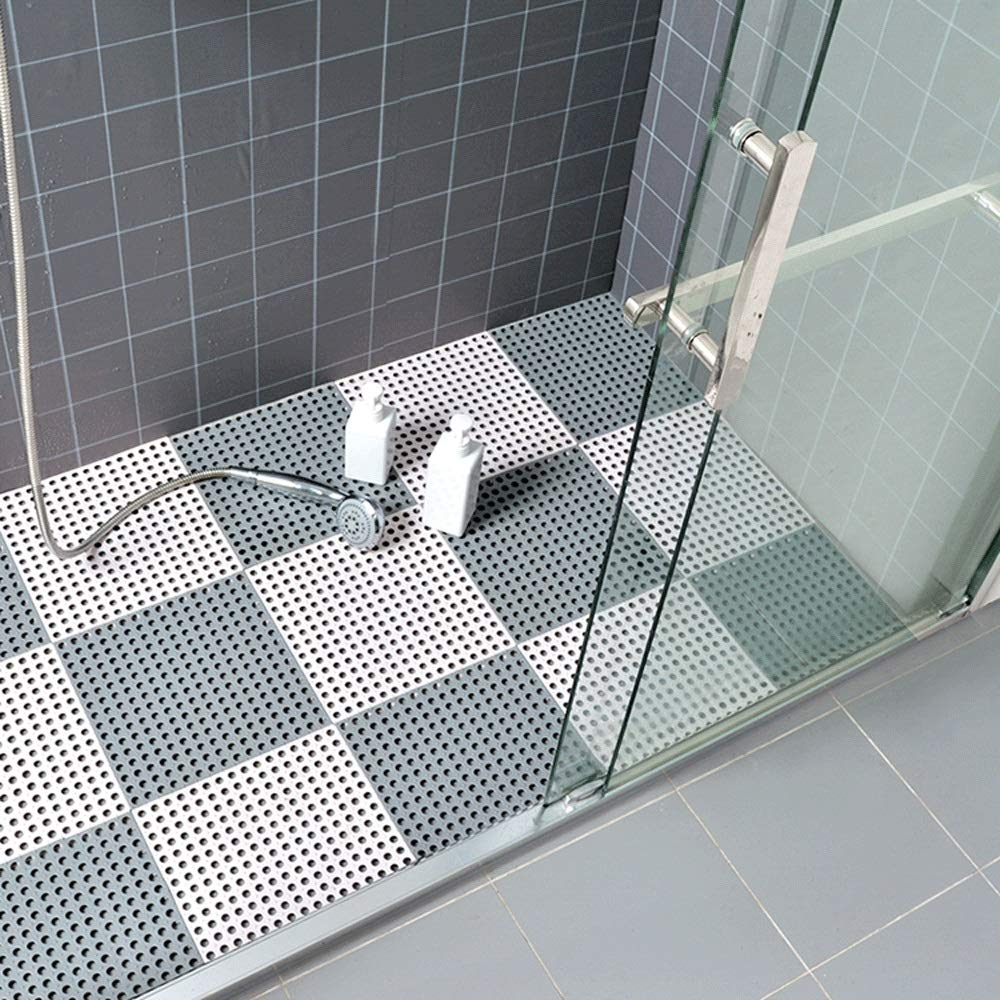 ZXT Badezimmermatte Gummi Duschmatte Home Bad Badezimmermatte Matte Wc Nähte Nähte Nähte Wasserdichte Wasserdichte Hohlmatte (Farbe   C, größe   18pcs) B07MQ9LC5P Duschmatten f99de0
