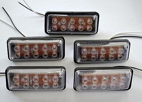 MASO laterali luci LED indicatore laterale luci di posizione laterali lampade 12/V 24/V universale per rimorchio Van caravan camion auto Bus