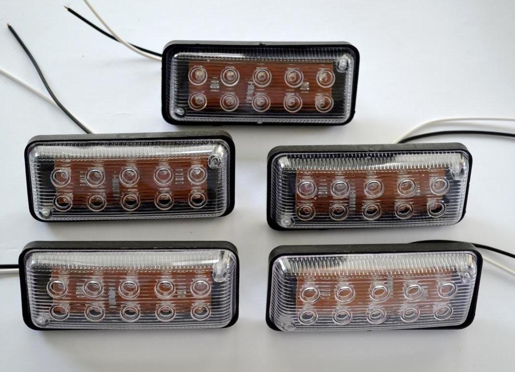 White Front Oval LED Side Marker Lights 10x 24V Truck Trailer Van Tractor Lorry