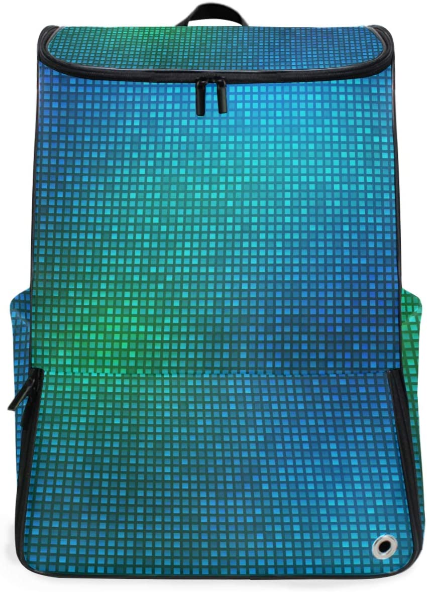 MONTOJ Travel Gear Laptop Backpack Blue Light Mosaic Background Carry-On Travel Backpack