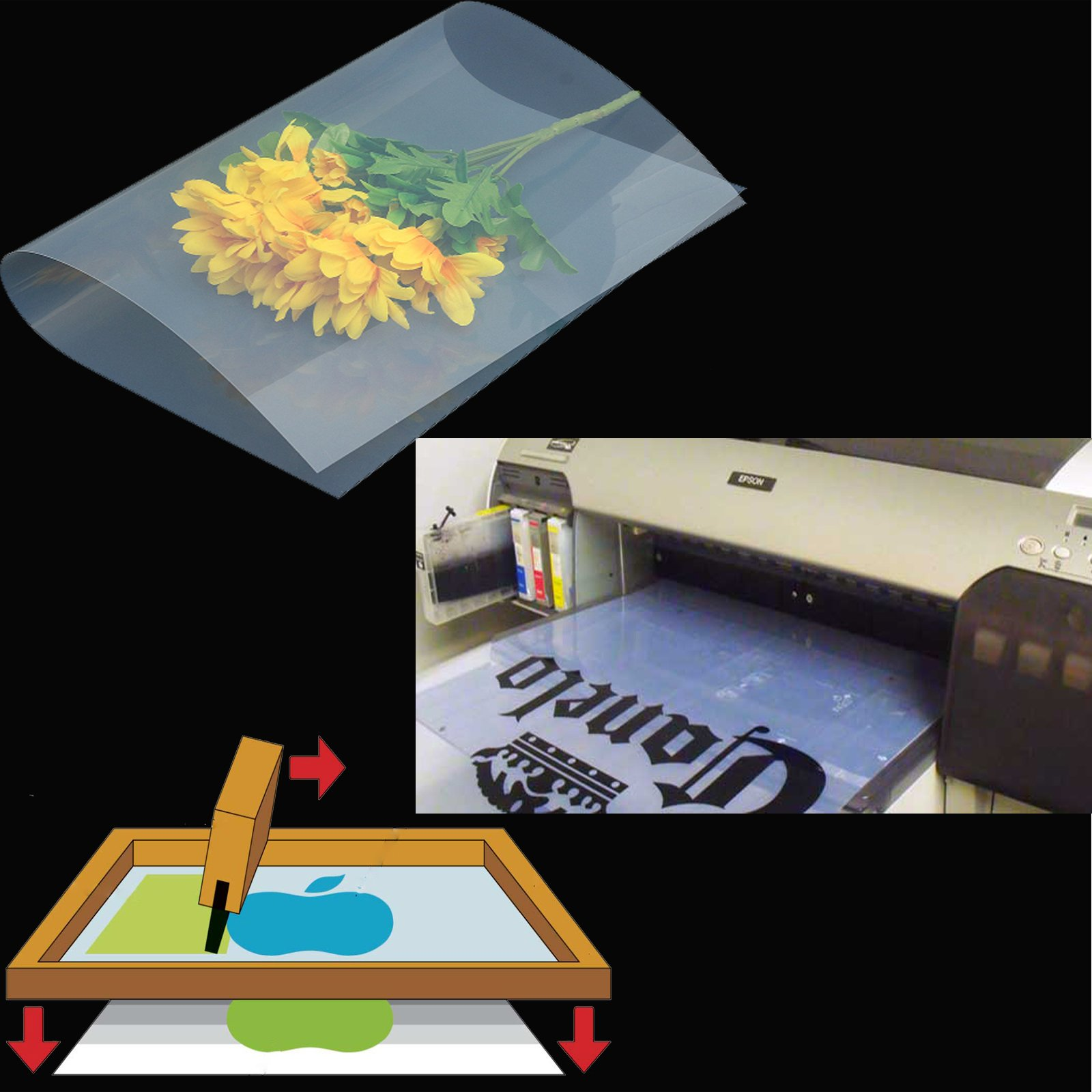 400 sheets,A4,8.27''x11.7'' ,Waterproof Inkjet Silk Screen Printing Transparency Positive Film 210x297mm by Tiger-Hoo(USA)